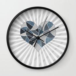 Heart . Patchwork .2 Wall Clock