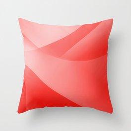 Red Wallpaper Throw Pillow