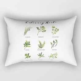 Culinary herbs Rectangular Pillow
