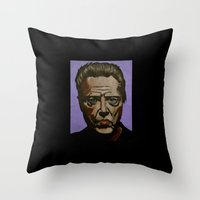 christopher walken Throw Pillows featuring Walken by Jonny Moochie