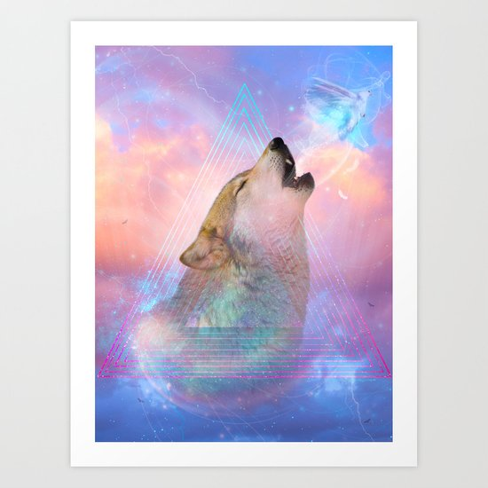 Dream By Day (Wolf Dreams - Remix Series) Art Print