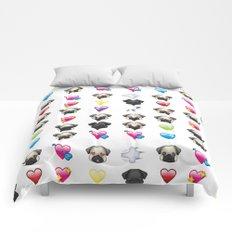 Emoji Pug  Comforters