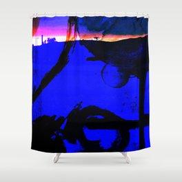 Horizonte castellano Shower Curtain