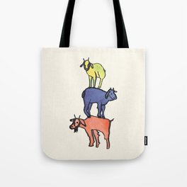 3 Billy Goats Up Tote Bag