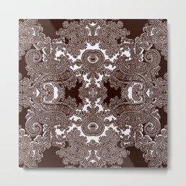 paisley vine Metal Print