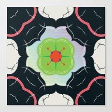 Vintage Tiles: Black  Canvas Print