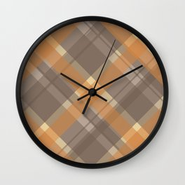 Plaid - Sept 2017 Colors Wall Clock