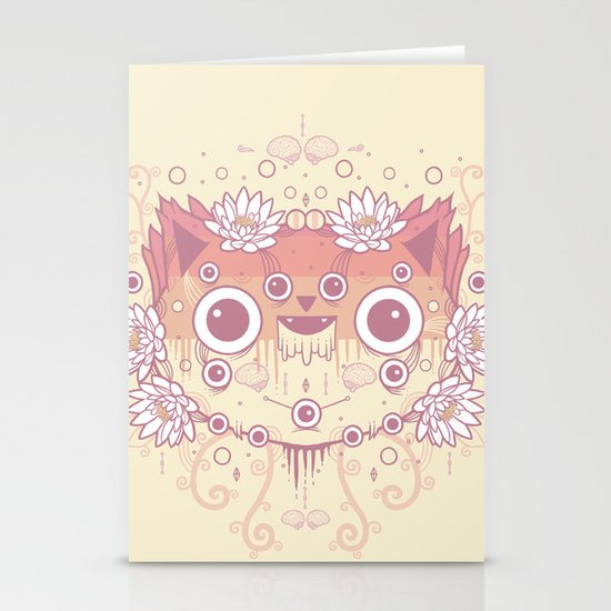 Cat flowers Stationery Cards