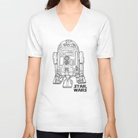 r2d2 V-neck T-shirts featuring r 2 d 2 by Vickn