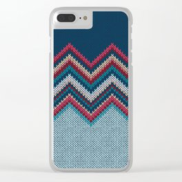 Knitted Textile Art - 6 Clear iPhone Case