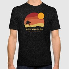 Los Angeles Sunset MEDIUM Tri-Black Mens Fitted Tee
