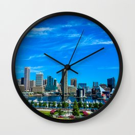 Inner Harbor from Federal Hill Wall Clock