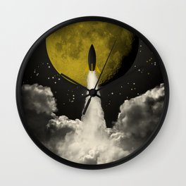 Start to the Moon Wall Clock