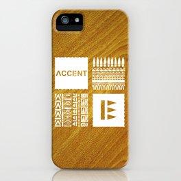 Quartet White Wood Grain iPhone Case