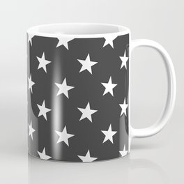 Black White Stars Coffee Mug