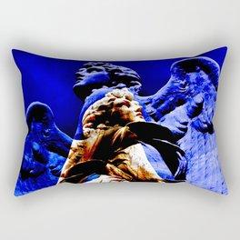 Blue Angel Wings Rectangular Pillow