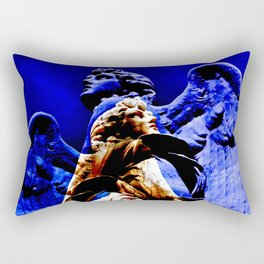 Blue Angel Wings Rectangular Pillow
