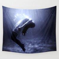 underwater Wall Tapestries featuring Underwater by EclipseLio
