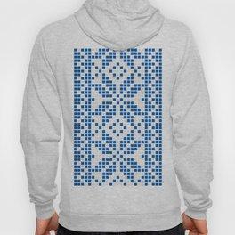 Blue & White Ethnic Pattern Hoody