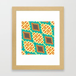 Ornamental retro shapes Framed Art Print