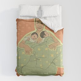 Mother with Twins Comforters