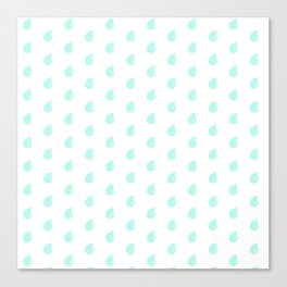 Drop Mint Pattern Canvas Print