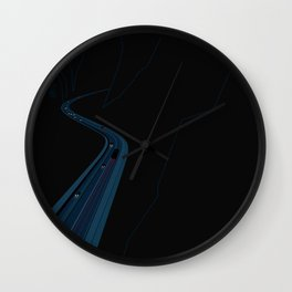 Through the Construct of Night Wall Clock