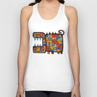 hippo Tank Tops featuring Dog hippo by Rudolf Brancovsky