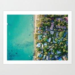 Aerial Beach View Art Print