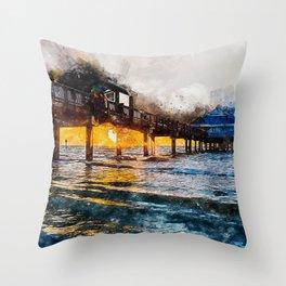 Pier 60, Clearwater Beach Throw Pillow