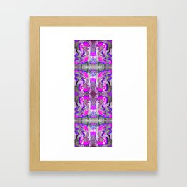 happy chair pink Framed Art Print