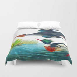 Red-breasted Merganser Bird Duvet Cover