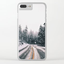 Winter Drive Clear iPhone Case