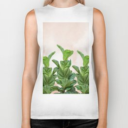 Dreaming candy with green rubber trees Biker Tank