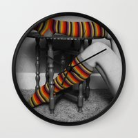 morocco Wall Clocks featuring morocco socko by Elle Hanley Photography