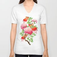 goldfish V-neck T-shirts featuring goldfish by Manoou