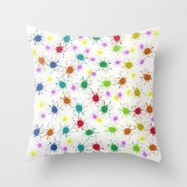Bright Splat Throw Pillow