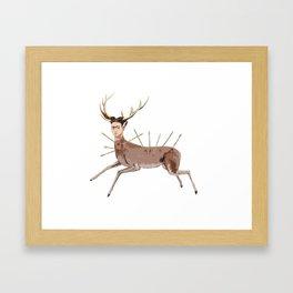 deer frida kalho Framed Art Print