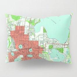 Vintage Map of Lakeland Florida (1944) Pillow Sham