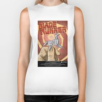 blade runner Biker Tanks featuring Blade Runner   by Joe Badon