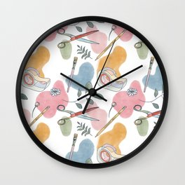 Craft Kit Pattern Wall Clock