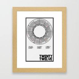 Twenty Twelve Calendar Framed Art Print