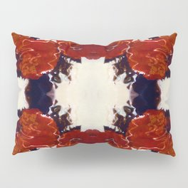 Red Rosie Photographic Pattern Pillow Sham