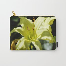Purrty White Flower Carry-All Pouch