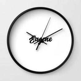 Eugene Custom Text Birthday Name Wall Clock