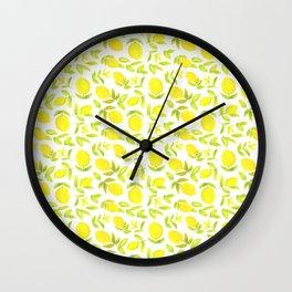 Lemon, lemon Wall Clock