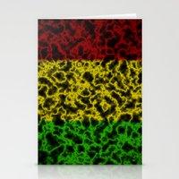 rasta Stationery Cards featuring Electric Rasta by organicdreams