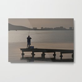 Gone Fishin' Metal Print