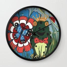 Frog Prince And His Kingdom Wall Clock