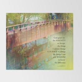Serenity Prayer Long Bridge Throw Blanket